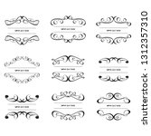 set of vector vintage frames on ... | Shutterstock .eps vector #1312357310