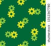 gear seamless pattern vector... | Shutterstock .eps vector #1312367780