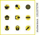 ui icons set with coffee  flash ...
