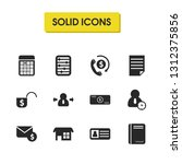 work icons set with active...