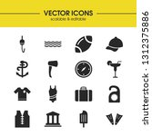 season icons set with ball for...