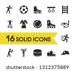 exercise icons set with washer...