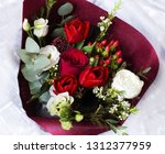 colorful flower bouquet from... | Shutterstock . vector #1312377959