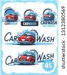 car wash retro label   Shutterstock .eps vector #1312380569