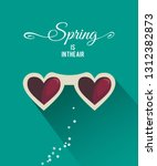 spring in the air poster or... | Shutterstock .eps vector #1312382873