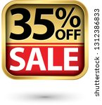 35  off sale golden label with... | Shutterstock .eps vector #1312386833
