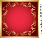 red vector card with golden... | Shutterstock .eps vector #131239058