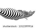 black and white stripe... | Shutterstock .eps vector #1312399916