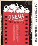 cinema movie poster with film... | Shutterstock .eps vector #1312401350
