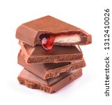 chocolate with fruit filling | Shutterstock . vector #1312410026