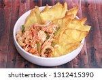 popular thai recipe pad thai...   Shutterstock . vector #1312415390
