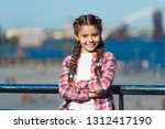 girl cute kid with braids... | Shutterstock . vector #1312417190