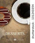 dessert menu in grunge vintage ... | Shutterstock . vector #131243354