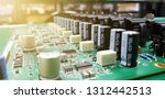 circuit board with electronic... | Shutterstock . vector #1312442513