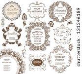 vector set  calligraphic design ... | Shutterstock .eps vector #131246189