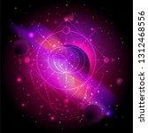 vector illustration of sacred... | Shutterstock .eps vector #1312468556