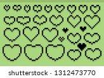 hearts. pixel art | Shutterstock .eps vector #1312473770