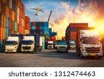logistics and transportation of ...   Shutterstock . vector #1312474463