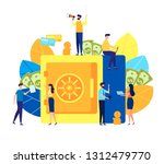 vector flat colorful... | Shutterstock .eps vector #1312479770