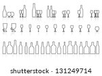 glass and bottle set | Shutterstock . vector #131249714
