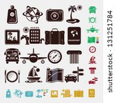 travel set in five colors | Shutterstock .eps vector #131251784