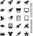 solid black vector icon set  ... | Shutterstock .eps vector #1312527503
