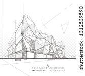 3d illustration architecture... | Shutterstock .eps vector #1312539590