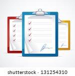 vector illustration of check... | Shutterstock .eps vector #131254310
