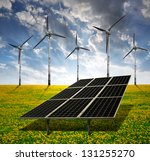 solar energy panels and wind... | Shutterstock . vector #131255270
