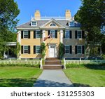 longfellow house in cambridge ... | Shutterstock . vector #131255303