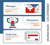 business and finance banner...   Shutterstock .eps vector #1312556063