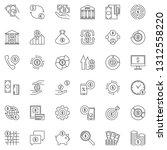 money outline icons set. vector ...   Shutterstock .eps vector #1312558220