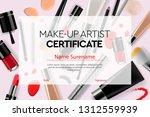 certificate makeup artist ... | Shutterstock .eps vector #1312559939