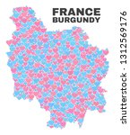 mosaic burgundy province map of ... | Shutterstock .eps vector #1312569176