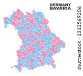 mosaic bavaria land map of...   Shutterstock .eps vector #1312569206