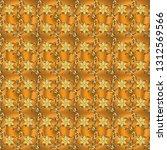 seamless classic vector golden... | Shutterstock .eps vector #1312569566