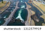 aerial drone photo of bend...   Shutterstock . vector #1312579919