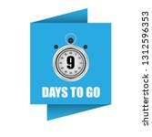 9 days to go sign   label... | Shutterstock .eps vector #1312596353
