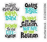 sticker set template with hand... | Shutterstock .eps vector #1312603286