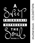 a sweet friendship refreshes... | Shutterstock .eps vector #1312607696