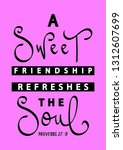 a sweet friendship refreshes... | Shutterstock .eps vector #1312607699