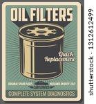 oil filters  vector. car repair ... | Shutterstock .eps vector #1312612499