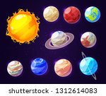 planets of solar system in... | Shutterstock .eps vector #1312614083