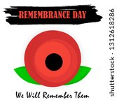 anzac day banner design with... | Shutterstock .eps vector #1312618286
