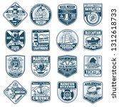 nautical heraldry icons of...   Shutterstock .eps vector #1312618733