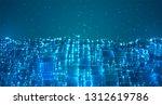 vector abstract 3d crystal. a... | Shutterstock .eps vector #1312619786
