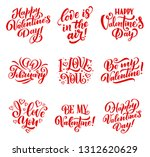 happy valentines day hand drawn ... | Shutterstock .eps vector #1312620629