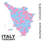 mosaic tuscany region map of... | Shutterstock .eps vector #1312622876