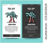 tree app interface design with...