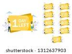 1 day left announcement ... | Shutterstock .eps vector #1312637903